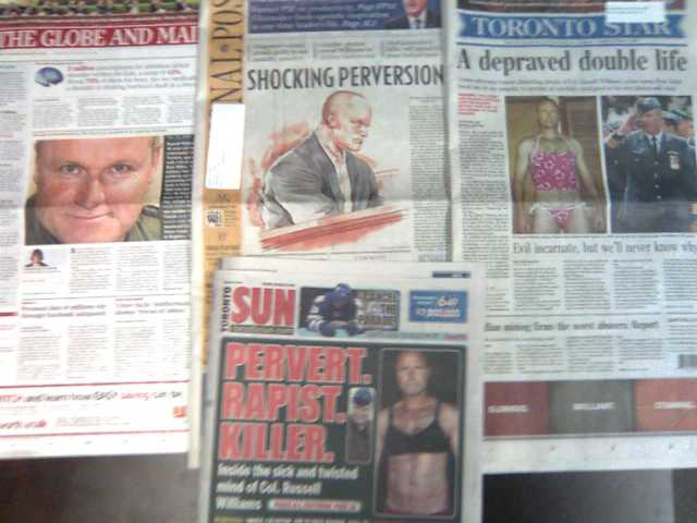 Toronto's dailies covers Oct 19